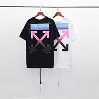 schwarze kleidung für männer großhandel-Ich habe große Größe 100% Baumwollhemd 2019 Sommer Marke entworfen Herrenbekleidung schwarz-weiß T-Shirt Polodruck Mode T-Shirt europäischen la