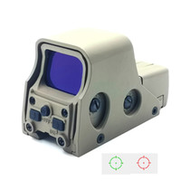 Tactical Holographic Reflex Red Green Dot Sight Hunting Rifle Scope Blue Film Coating Lens Brightness Windage Adjustable Classic Sand Color.