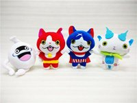 assistindo tv venda por atacado-20 cm brinquedos de pelúcia japão yokai watch red komina SAN Nyan Whisper Youkai Assista Brinquedo de Pelúcia Macia Boneca crianças brinquedos presentes de natal