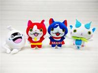 çocuklar için oyuncak japonya toptan satış-20cm Peluş oyuncaklar Japonya Yokai İzle Kırmızı Kedi KOMA SAN Nyan Whisper Youkai İzle Peluş Oyuncak Yumuşak Bebek Çocuk oyuncakları yılbaşı hediyeleri