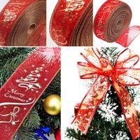 ingrosso ornamenti di lusso di natale-Natale Merletto di lusso di Natale l'albero di natale decorazioni festival nastro partito Pendenti 2000X63mm