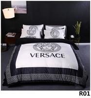 Wholesale 3d print bedding set full resale online - queen Bed Comforters Sets designer bedding sets Quilt cover pieces suit Explosion models thick crystal velvet digital printing Bed M01