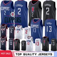 ingrosso pallacanestro maschile-Kawhi 2 Leonard NCAA LA Men's Clippers Maglie Paul 13 George Basketball Maglie 15 Carter Cucita Logo In Stock Fast Shippping