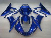 наборы обтекателей r6 оптовых-Классический синий белый обтекатель для YAMAHA YZF R6 2004 2005 YZFR6 04 05 YZF-R6 04 05 Набор обтекателей