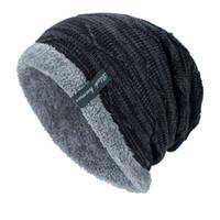 fluffy caps UK - Men Winter Cap Men Hat Male Beanie Winter Keep Warm  Knitted Velvet c388f14eb256