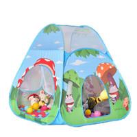 piscina para niños al por mayor-Mushroom Forest Cartoon Teepee Juguete Kid Play Carpa Boy Girl Princess Castle Interior Casa para niños al aire libre Jugar Ball Pit Pool Playhouse