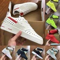 sapatos de corrida planos para mulheres venda por atacado-2019 Kpu 1s Dunk 1 Mens Running Shoes Utilitário Verde Branco preto Low Luxury Womens Formadores Designer Flat Sports Sneakers Skateboard Shoes