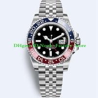 часы для дайвинга оптовых-2018 Basel World Luxury New GMT II с автоматическим механизмом из нержавеющей стали Dive Basel 40MM 116710 116710BLNR 126715CHNR Мужские часы Часы