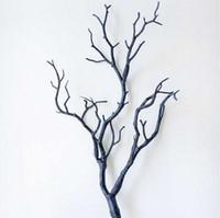 bäume für hochzeit dekor großhandel-Kunststoff Künstliche Pflanzen Hochzeit Dekoration Getrocknete Baum Home Decor Pfau Korallen Niederlassungen J2Y