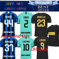 entre milan jersey niños al por mayor-19 20 camiseta de fútbol Inter LAUTARO ALEXIS Perisic Nainggolan Milan camiseta de fútbol 2019 2020 niños adultos POLITANO GODIN BARELLA maillot de pie