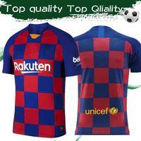 ingrosso calcio uniforme sportivo-Top Quality 2019 # 10 MESSI # 17 GRIEZMANN Home Soccer Jersey 19/20 Football Shirt Sport Jersey Uniformi su misura Taglia S-4XL Drop shipping