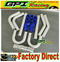 Wholesale universal turbo hose resale online - 2 quot INCH mm UNIVERSAL ALUMINUM INTERCOOLER TURBO PIPE PIPING KIT HOSE