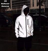 binmek toptan satış-Moda Yansıtıcı Gece Güvenlik Sürme Ceket Parti topu kostüm ceket fabrika Erkekler Ve Kadınlar Için Ücretsiz kargo