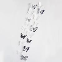 borboleta de cristal adesivos venda por atacado-Efeito 3d Borboletas De Cristal Adesivo de Parede Bela Borboleta para Crianças Decalques de Parede Sala de Decoração Para Casa Sobre o