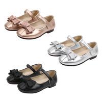 yürümeye başlayan kız prenses ayakkabı toptan satış-Bebek kız ayakkabı İlkbahar sonbahar Bow büyük kızlar Sandalet Baotou çocukları Tatlı Prenses Ayakkabı bebek bale kahverengi boyutu 26-36 kravat