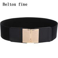 Wholesale belts for women big size for sale - Group buy Vintage Wide Hook Elastic Waist Belt Waistband Plus Stretchy Cinch Belt Big size Cummerband for Women