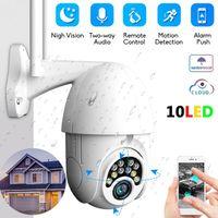 ip kamera kuppel wifi pfanne großhandel-1080P PTZ Sicherheit WIFI Kamera Outdoor Speed Dome Wireless IP Kamera CCTV Pan Tilt 4X Zoom IR Netzwerküberwachung