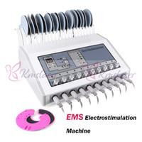 vague russe électrique achat en gros de-Électrostimulation de machine de stimulateur de muscle d'EMS onde russe d'ondes russes de dizaines de stimulant électrique de muscle de SME