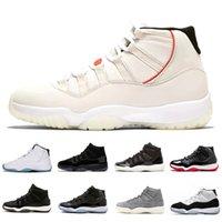 ingrosso abiti da sera gialli-Nike air jordan 11 retro Basketball shoes XI Black Out 11s Prom Night Scarpe da basket 11 Gym Red Concord Midnight Navy Shoe Space Jam PRM Heiress Bred uomo sportivo Sneaker