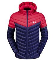 sökülebilir şort erkekleri toptan satış-2018 kış yeni renk eşleştirme aşağı ceket erkek ceket ayrılabilir kap öğrenci dikiş ışık kısa pamuk giyim