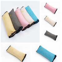 Wholesale pillow covers for kids for sale - Group buy Baby Auto Pillow Car Suede Kids Sleeping Pillows Soft Car Seat Belt Shoulder Pads Cover For Children HHA128