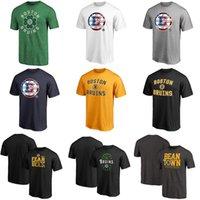 siyah beyaz karışık gömlekler toptan satış-Erkek Boston Bruins Hokeyi T-Shirt Siyah Gri Altın Lacivert Beyaz No Adı Hiçbir Numara Formalar Mix Sipariş Toptan Hızlı Kargo
