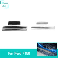 Wholesale threshold for car online - Brushed Stainless Steel Outside Threshold For Doors Car Exterior Accessories Fit Ford F150 Car Accessories