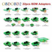 bmw diagnoseadapter großhandel-Beste Qualität 22 stücke BDM Adapter KTAG KESS KTM Dimsport BDM Sondenadapter Full Set LED BDM Rahmen ECU RAMP Adapter DHL Freies