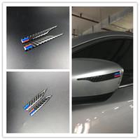 fibra de carbono x1 al por mayor-Espejo retrovisor de fibra de carbono Pegatina anti-frotamiento Tiras protectoras para BMW e90 e60 f30 f10 f20 x1 x3 x5 x6 estilo anticolisión