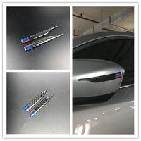 x1 kohlefaser großhandel-Kohlefaser rückspiegel aufkleber anti-rub streifen schutzfolie für bmw e90 e60 f30 f10 f20 x1 x3 x5 x6 styling anti-kollision