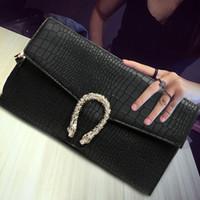 сумка-конверт с обложкой конверта оптовых-Модный дизайнер женский конверт сумки наплечная сумка роскошные сумки через плечо лоскут тела сумка клатч сумка аллигатор сумка свободный корабль