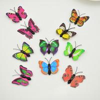 Wholesale 3d decorative arts for sale - Group buy 12pcs d PVC CM simulation Butterfly wall Wedding Home Party Decorative diy stickers art Decals TV fridge kids toys Multicolor