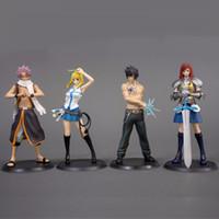 ingrosso fata di coda anime pvc-2 pz / lotto Fairy Tail Natsu Elza Erza Grigio Sexy Girl Model Doll PVC 13 cm Gioco Figurine Anime Action Figure 170913