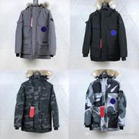 erkekler için kuş tüyü toptan satış-2020 Kanada Langfordo Kış parkas sıcak Ceket Lacivert siyah aşağı ceket Aşağı Men kırmızı Kadınlar Kış Tüy Palto Ceket Sıcak Coat