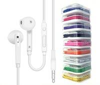 iphone lautstärkeregler großhandel-3,5 mm In-Ear-Kopfhörer Kopfhörer-Steuer-Headset mit Mikrofon und Remote-Lautstärke für iPhone x 8 plus Samsung S6 S7 Mit Kleinpaket