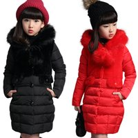 Wholesale old fashioned clothes for kids resale online - Girls Warm winter Coat Artificial hair fashion Long Kids Hooded Jacket coat for girl outerwear girls Clothes years old
