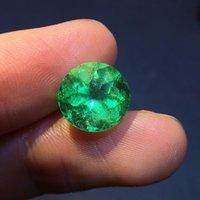 doğal gevşek taşlar toptan satış-18.12.30 Takı Yönlü Canlı Yeşil Doğal Zümrüt Taşlar Gevşek taşlar Gevşek Taş Gems 4.15ct belgeli AIGS