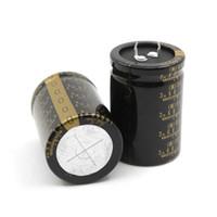 condensateurs électrolytiques nichicon achat en gros de-Livraison gratuite Original condensateur électrolytique audio type II de la série 10000uF 50V de Nichicon KG