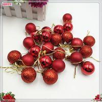 Wholesale christmas decor balls resale online - Christmas ball shine ball cm plastic Xmas Tree Decor Bauble Hanging Ornaments For Home Party Xmas ZHH181