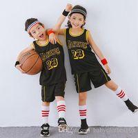 çocuklar sepetleri toptan satış-Çocuk spor erkek giyim için basketbol formalar Basketbol eşofman Camiseta De Baloncesto Çocuklar maillot sepet çocuk