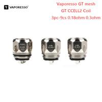 gt electronic achat en gros de-3 pc-9 pcs Original Vaporesso GT maille GT CCELL2 Tête De Bobine Cigarette Électronique Accessoires 0.18ohm 0.3ohm Pour Cascade One Plus