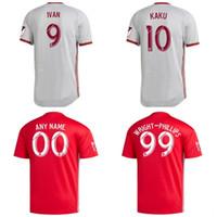 camisa de futebol new york venda por atacado-2019 MLS New York camisa de futebol em casa vermelha KAKU PARKER DAVIS PARKER Camisa de futebol homem 19 20 Nova York crianças kit Uniforme de futebol