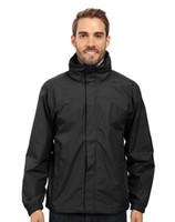 jerseys negros de manga larga al por mayor-Chaqueta impermeable de ciclismo de carretera para hombre, de invierno, otoño / invierno, chaqueta de manga larga, impermeable para lluvia / viento, negro