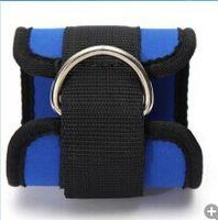 ingrosso sollevamento a puleggia-Ankle Strap Anchor Belt Multi Gym attacco del cavo piedino della coscia della puleggia della cinghia di sollevamento Esercizio Fitness Attrezzi Single5 7YF J1