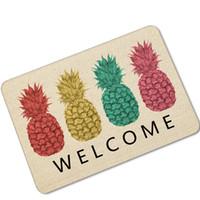 alfombra de sandia al por mayor-Caída envío Caucho Fruta sandía Imprimir Cocina Alfombra Alfombra de puerta Alfombra de cocina Pasillo Felpudo para la entrada