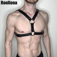macho gaiola bdsm venda por atacado-Arreios Homens Garter Belt Suspender Corpo Bondage gaiola para Sexy Men arnês Punk Goth bondage Cintos masculino Rave