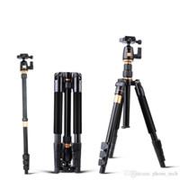 plaque de dégagement rapide de caméra vidéo achat en gros de-Trépied extensible professionnel de vidéo de Monopod d'alliage d'aluminium d'appareil-photo de caméra avec le support de plat de dégagement rapide TOP