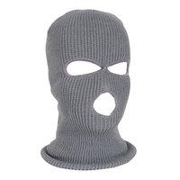 ingrosso cappuccio per il viso completo di sci-NUOVO Full Face Mask Maschera da sci Maschera invernale Cappellino Passamontagna Cappuccio Army Tactical 3 Hole cycling winter # 4n26