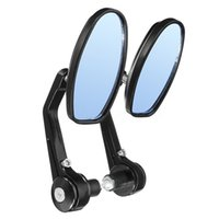 Wholesale bars motorcycle accessory resale online - 1 pair universal motorcycle mm inch bar end rearview mirrors motorbike bikes bicycle accessories