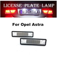 Wholesale accessories for opel resale online - License Plate LED Lamp For Opel Astra G Estate Astra F White Color LED Light Auto Accessories For Opel